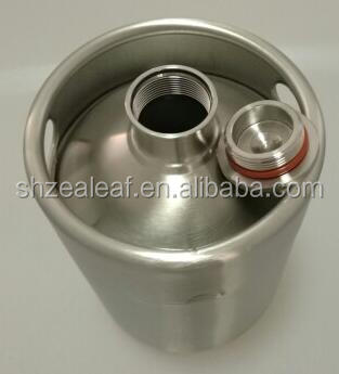 18/8 stainless steel mini 2L beer keg /bottle/barrel /growler used wine barrels