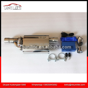 Good Price Stainless steel Exhaust Muffler with 3'' Inlet/Outlet Valve Remote Control set