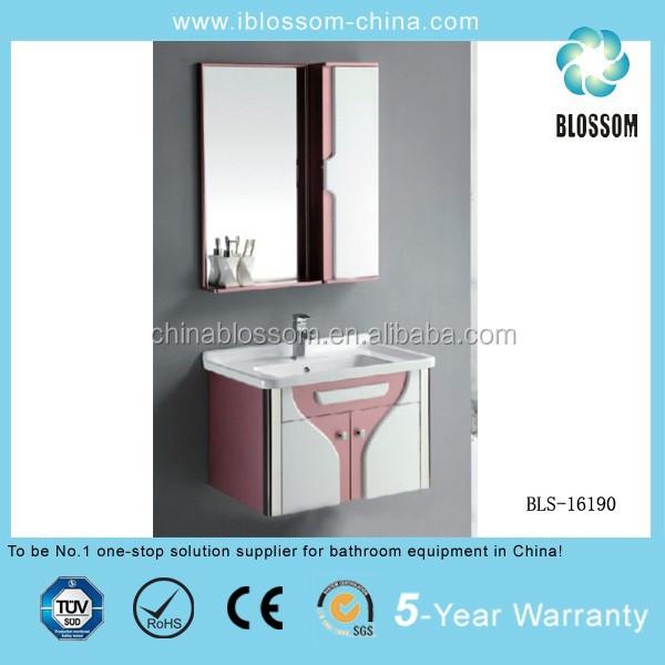 Wall Bathroom Mirror Cabinet Plastic Pvc