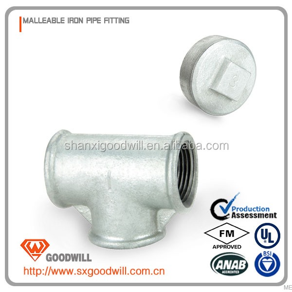 iso2531 restrained joint ductile iron pipe fitting