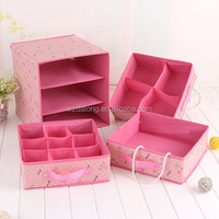 Non Woven Storage Box Desk Decor Stationery Makeup Cosmetic Organizer Case DIY