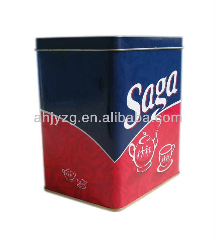 Customized Printed Tea Tin Box/Coffee Tin Box/Packaging Tin Box