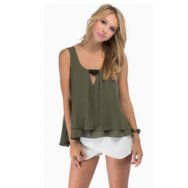 Buy Women Tops Sexy Hollow Out Women Chiffon Blouse Casual Loose