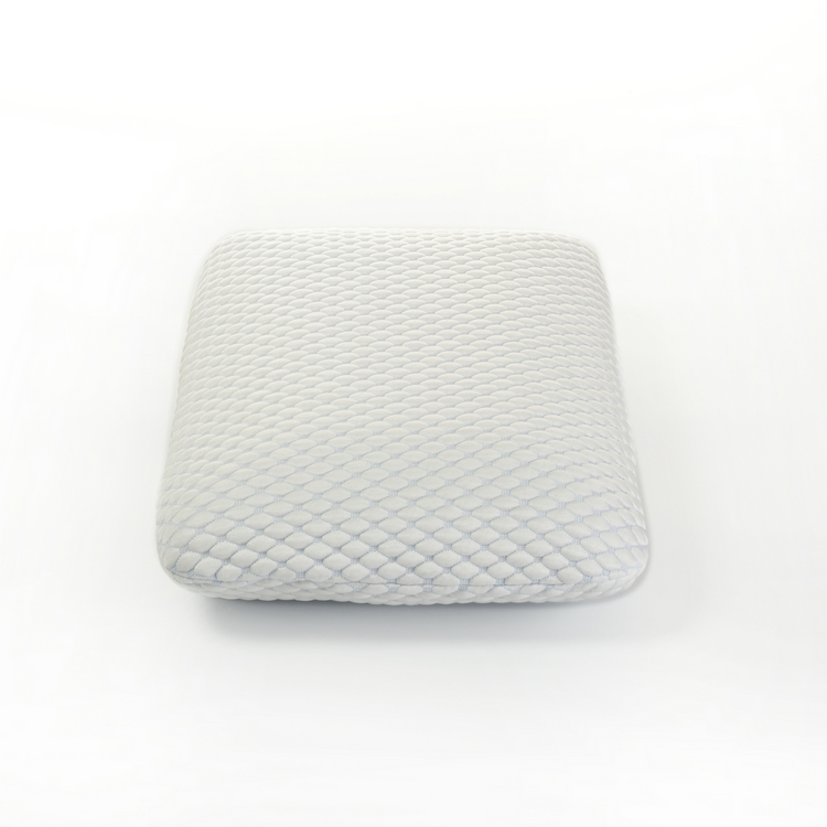Multi-functional plush hypoallergenic cover square memory foam throw pillow