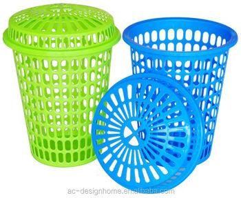 Fuchsia Turquoise Lime Green Orange 63l Round Pp Plastic Laundry Basket W