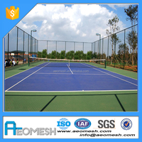 woven cyclone wire mesh fence widely used in mini soccer courts