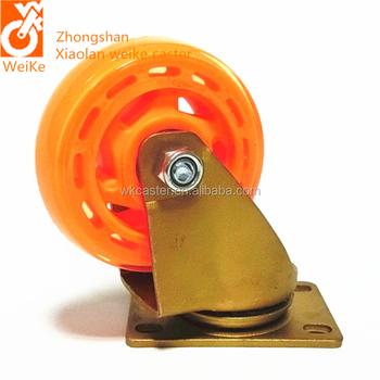 4u0026quot; Orange Transparent PU Swivel Caster Medium Sized Furniture Casters  Decorative Wheel