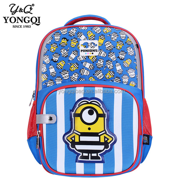 Kids God steals daddy's big eyes and cute little yellow minion cheap school bag