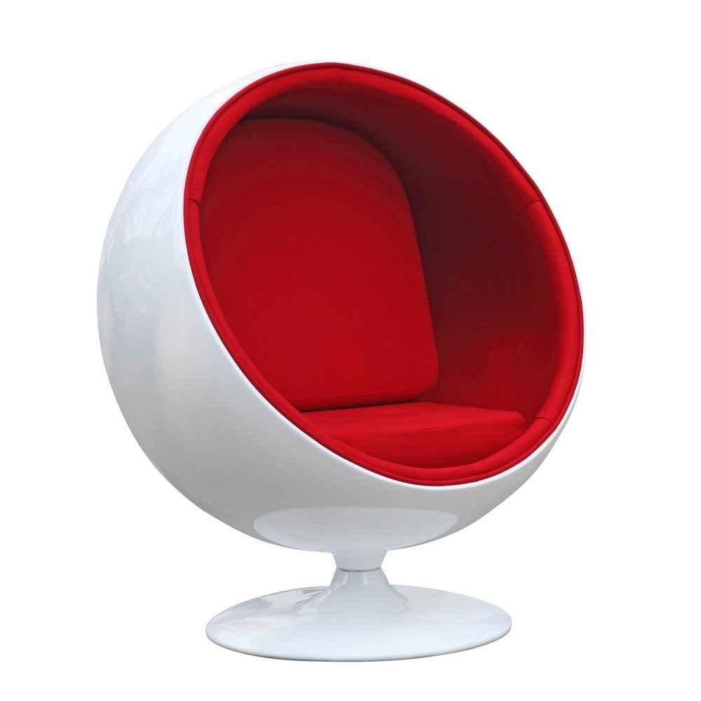... Designer Modern Eero Aarnio Ball Chair With Red Interior   With 30 Day