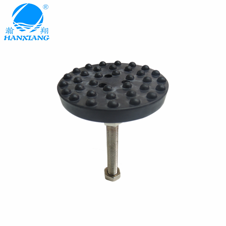 wholesale high quality Weight Support black Universal adjustable rubber feet for machine foot
