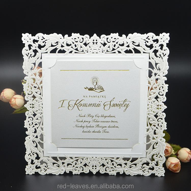 2019 hot stamping wedding invitation cards