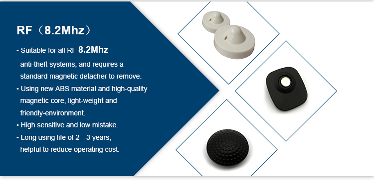 High-end Fashion Garment Shop Security System EAS AM 58khz Hard Tag Disposable Mini Super Tag for Anti-shoplifting