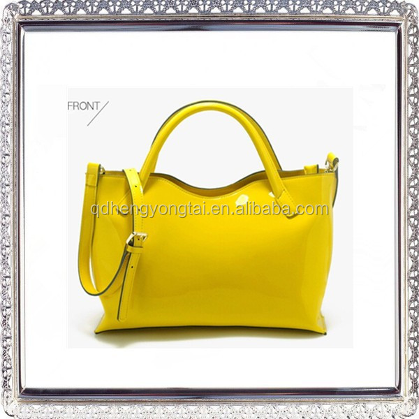 2015 New fashion color women genuine leather handbag leather branded bags