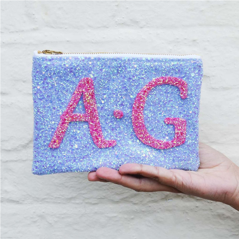 wholesale women high quality glitter cosmetic bag makeup cosmetic pouch bag