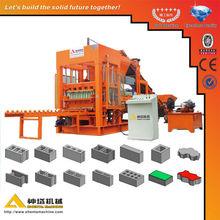 Molding Press Method QTY8-15 Hydraulic Cement Color Paving Interlock Brick Making Machine