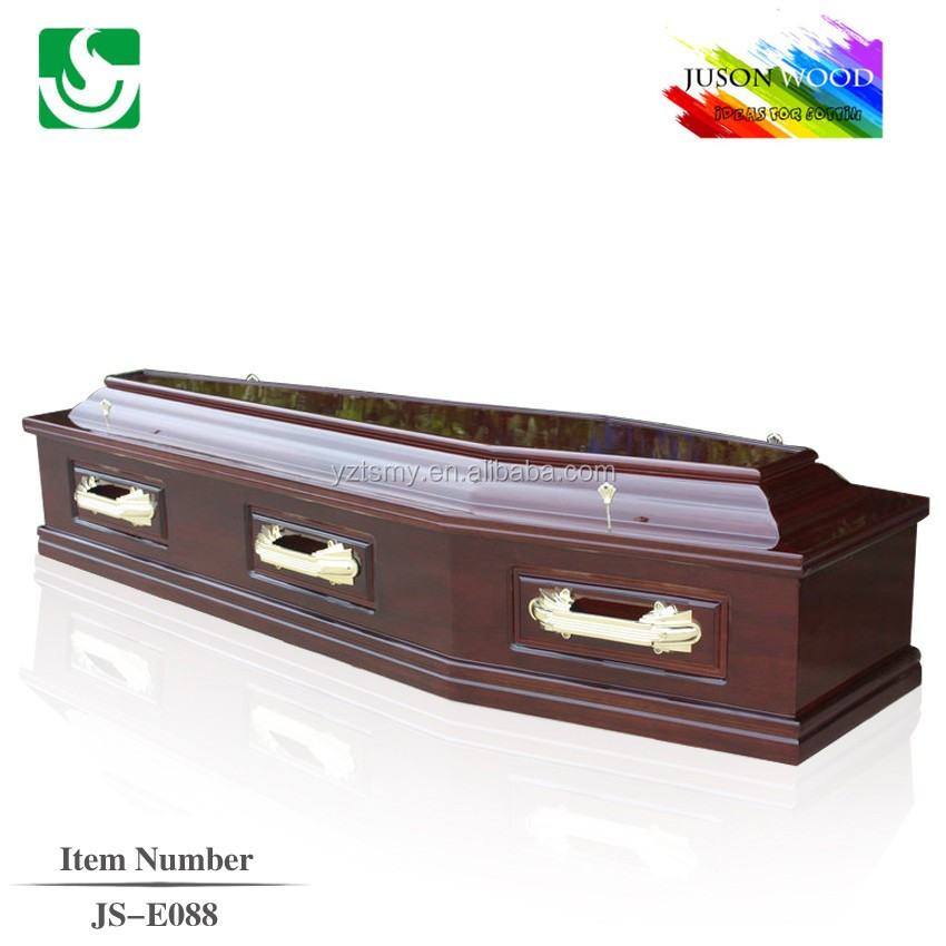 wholesale solid wood europe coffin made in China cheap coffin manufacturers