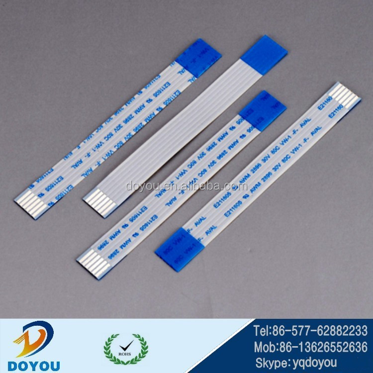Custom soft blue/white FFC flexible flat cable