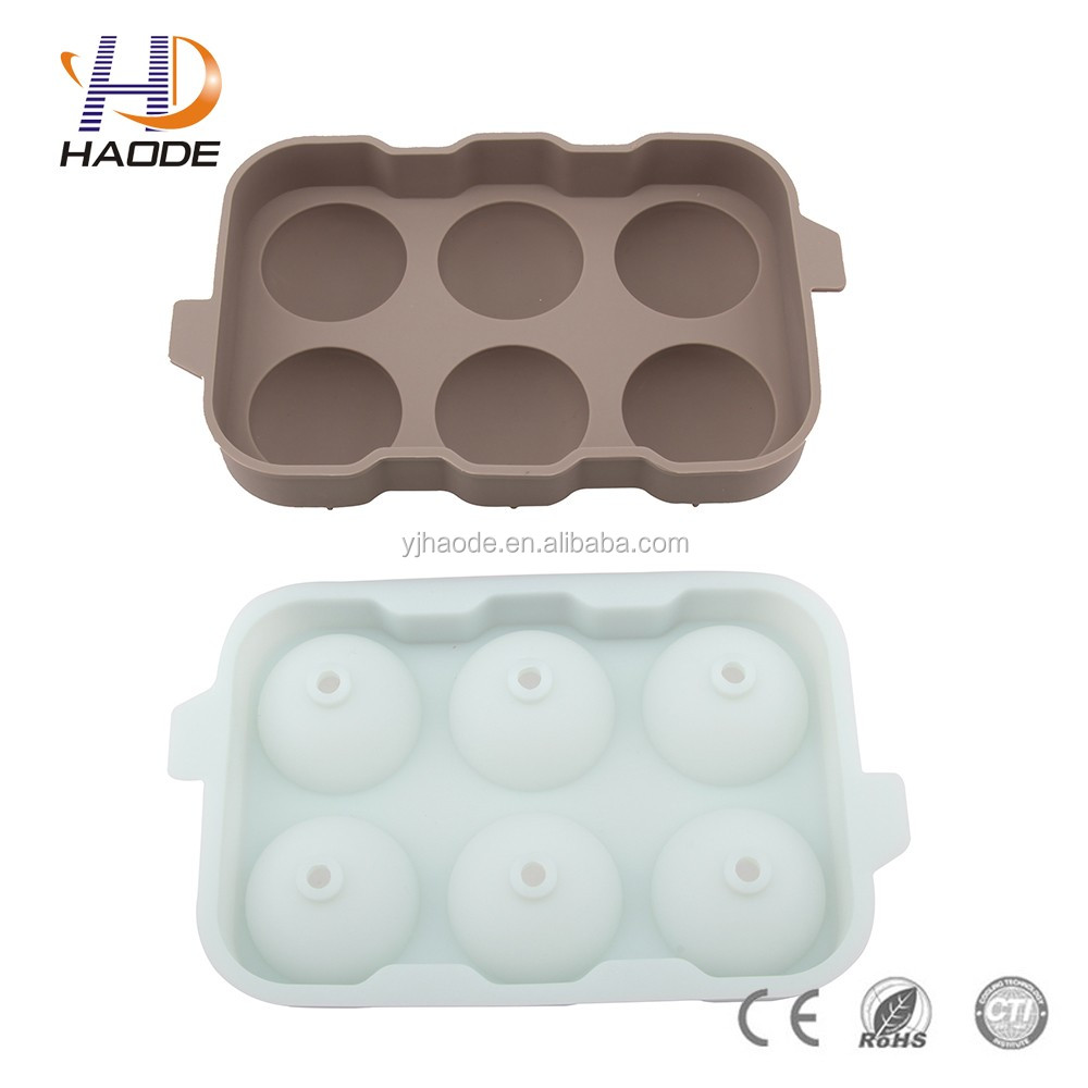 Custom FDA/food grade standard ball shape cheap promotional silicone ice cube tray