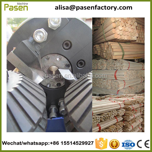 wood handle machine/wood broom stick making machine/wood round rod milling machine