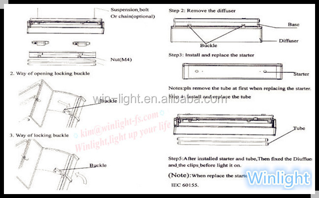 Double LED T8 1500mm Tri-proof lamp fixtures, 2*58W Explosion-proof light