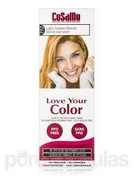 CoSaMo - Love Your Color Non Permanent Hair Color 772 Light Golden Blonde - 3 oz NEW PACKAGING Like Clairol , L'Oreal , Garnier , John Frieda , Nice n Easy , Revlon haircolor ... No PPD or No Ammonia ! Paraben FREE ! PPD FREE ! No Peroxide ! Peroxide Free ! #1 RATED BEST HAIR COLOR ! Most Popular