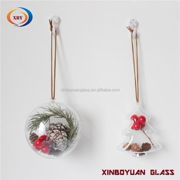 supplier wholesale decoration hanging indoor transparent clear ornament plastic christmas ball