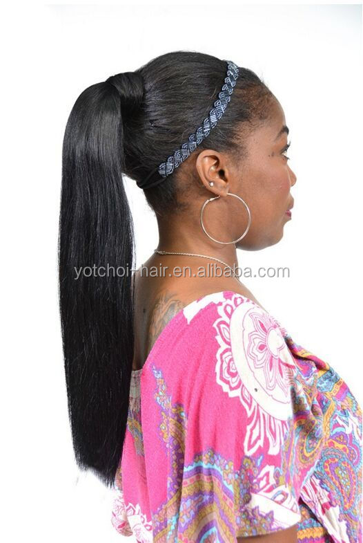 Most Fashion Cheap Virgin Remy Wholesale Hair Weave Ponytail