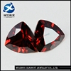 Glamour garnet fat triangle trillion cut Cubic Zirconia loose fire CZ synthetic stones cubic zirconia price