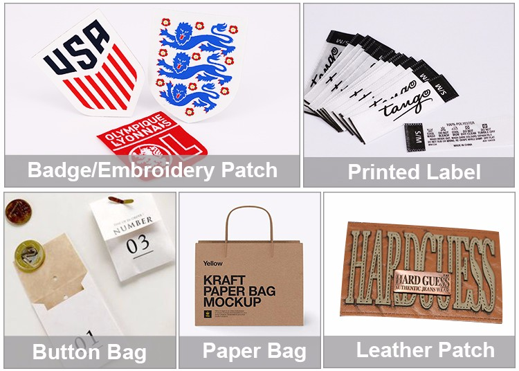 wholesale garment woven label/tag/customized clothing silk screen label printing