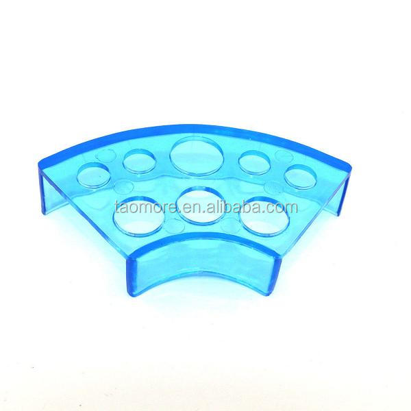 Blue Tattoo Ink Cap Rack Holder-8 Holes Pigment Cup Cap Rack Tattoo Ink Cup Holder Stand Tattoo Accessories