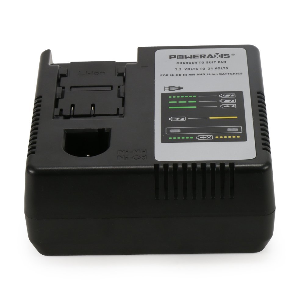 POWERAXIS Replacement Panasonic Charger for 7.2V to 24V Ni-CD, Ni-MH & Li-ion batteries EY9065 EY9086 EY9200 EY9136 EY9L60