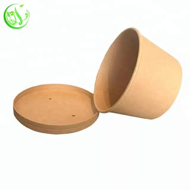 8oz Paper Noodle Disposable Kraft Paper Soup Bowl
