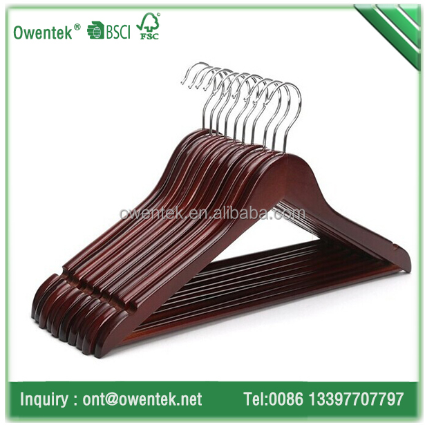 China factory natural clothes hanger personalized wood hanger for coat