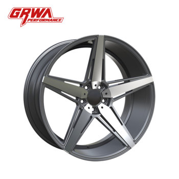 "2018 GRWA high quality and cheap price 20"" 22"" Gunmetal face machined car wheels car alloy wheel for VW"