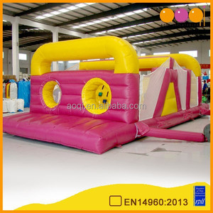 Toy kingdom product inflatable obstacle course with free EN14960 certificate