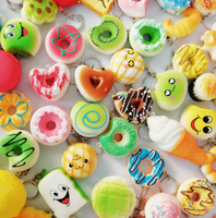 random Kawaii Toys Squishy Donut Soft Squishies Phone Straps Slow Rising Squishies Jumbo Buns Bag Phone Charms with keychain