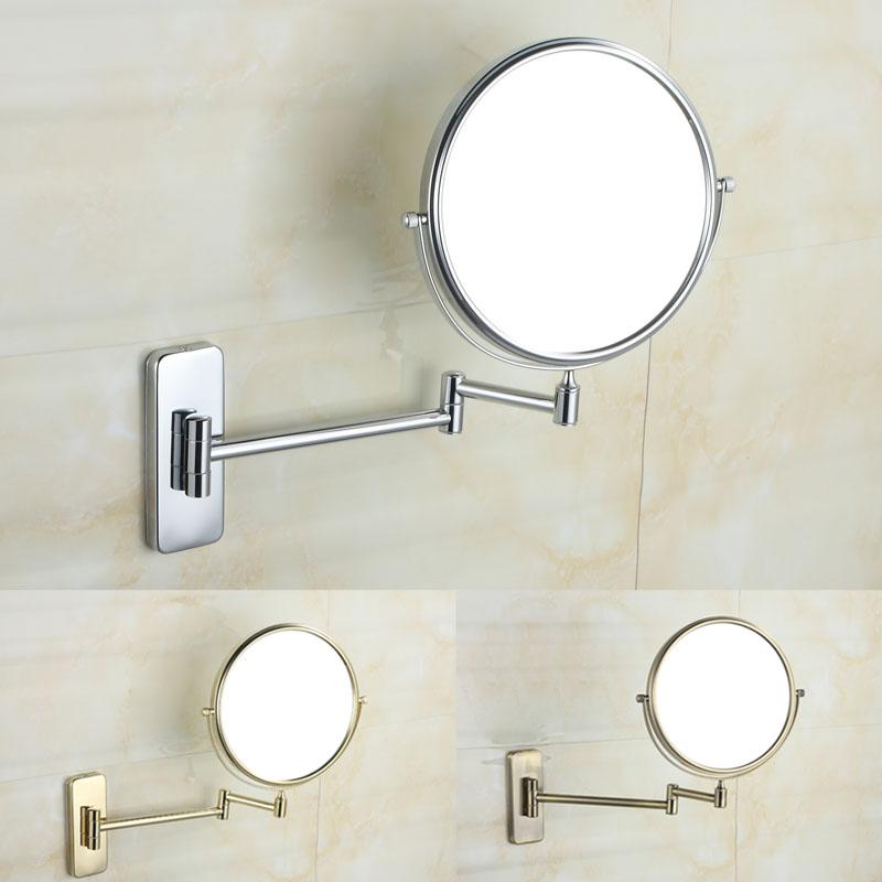 Bathroom Makeup Mirrors: Bathroom Folding Bathroom Makeup Mirror Retractable