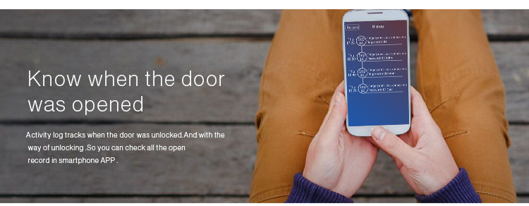 New smart APP control Slider fingerprint door lock with many unlock ways