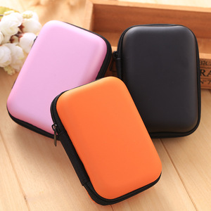 Portable leather cute eva earphone case,earphone pouch