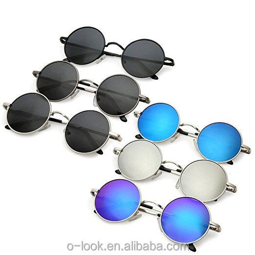 fae4da7745 Round Retro Polaroid Sunglasses Driving Polarized Glasses Men Steampunk