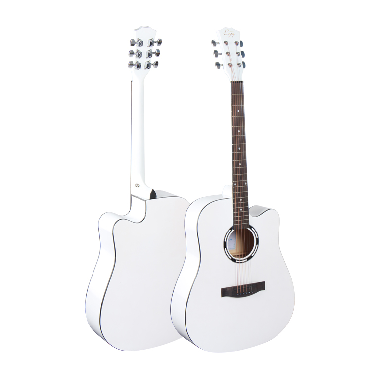 E41-DDL HEBIKUO a buon mercato All'ingrosso 40 pollice bianco acoustic guitar made in china on-line