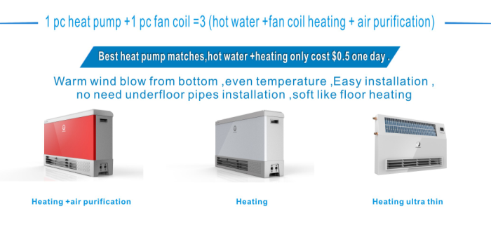 House Heating Fan Coil Unit Use With Heat Pump Radiators