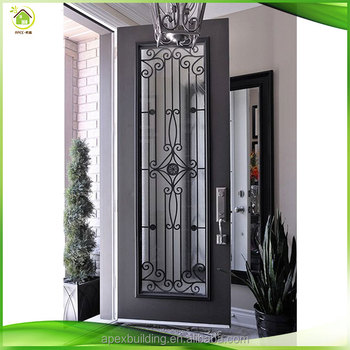 Iron door gate design buy iron door designs door gate for Outside main door design