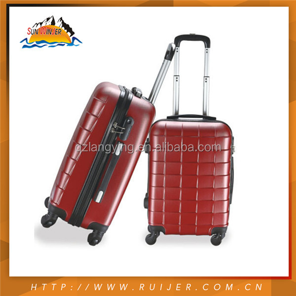 2015 High Quality 1*8# Zipper Kids Trolley Hard Case Luggage