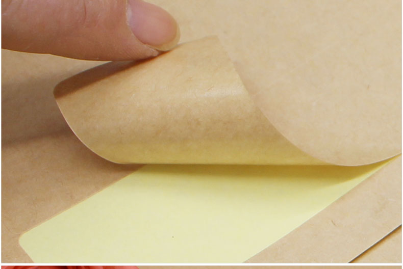 Hot Sale Self Adhesive Writable vinyl Kraft Paper for DIY decoration