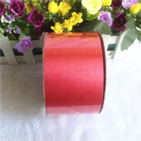 Decorative Outdoor Red Plastic Ribbon Roll