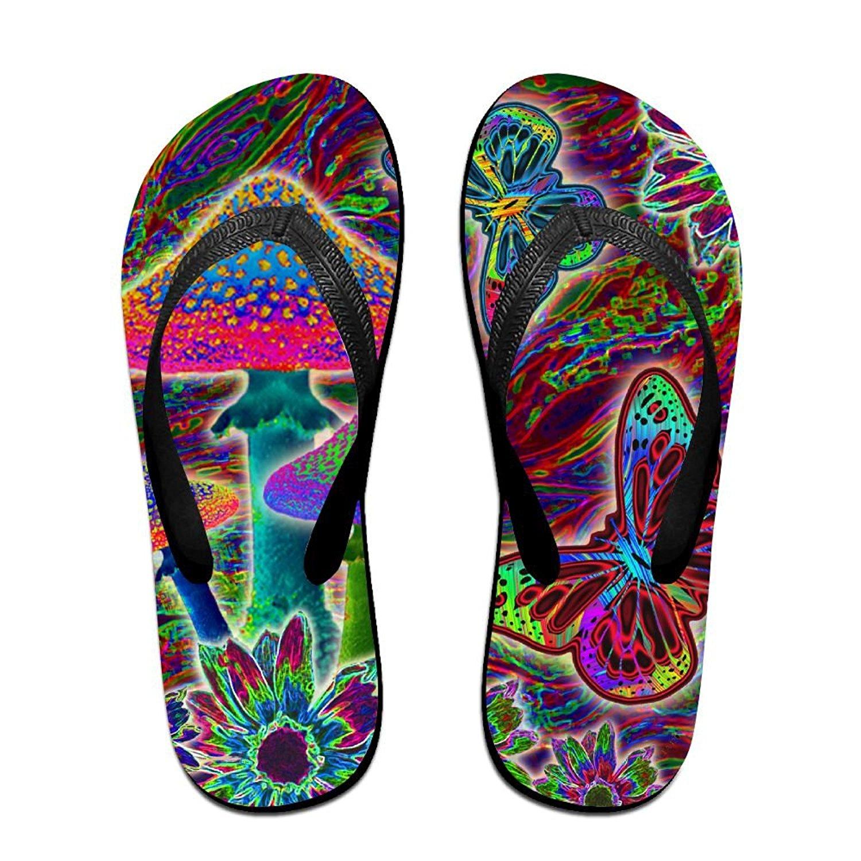 Unisex Summer Beach Slippers Mushrooms Flip-Flop Flat Home Thong Sandal Shoes
