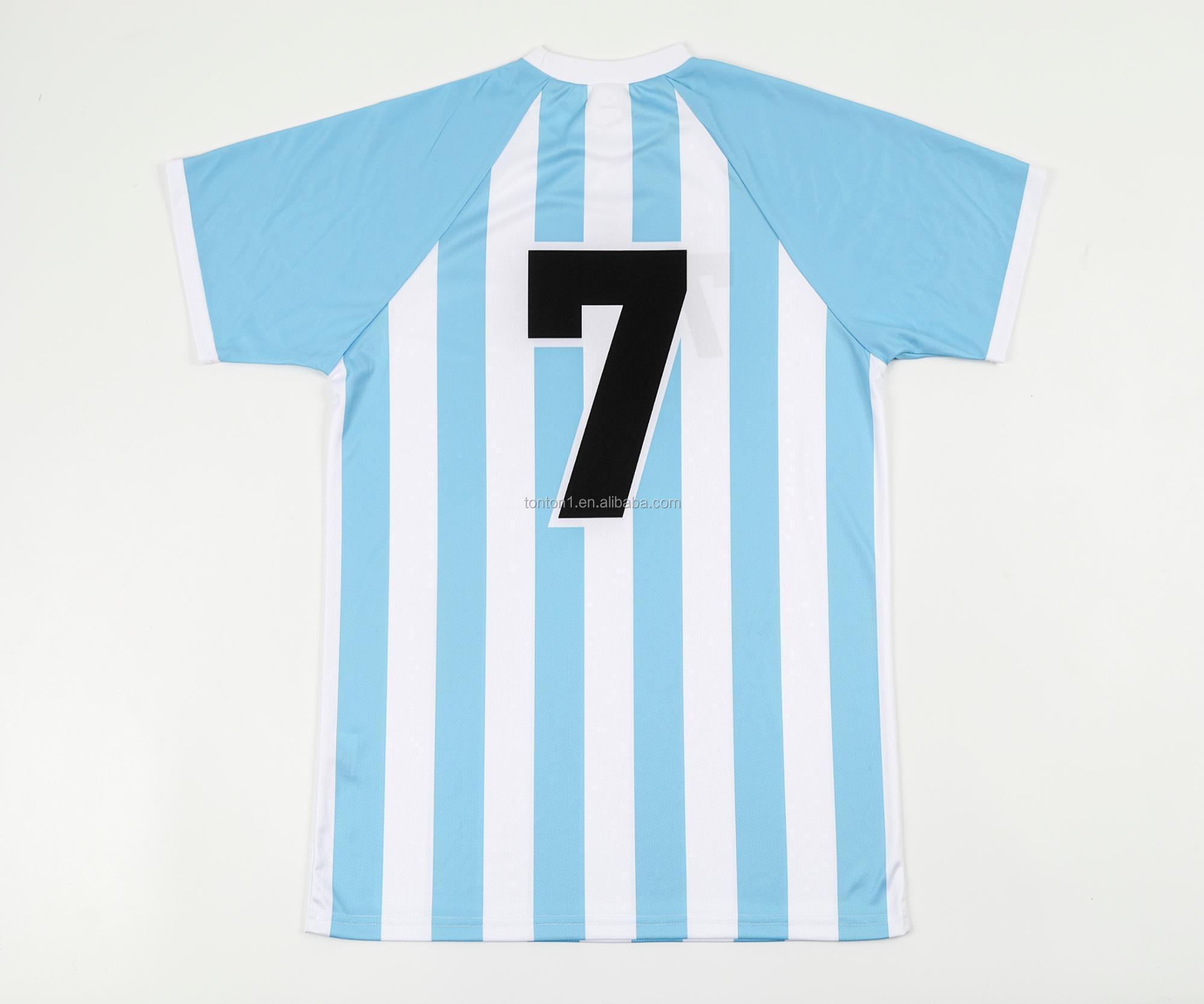 Custom Cheap Plain Sublimated Soccer Jerseyfootball Shirt Maker