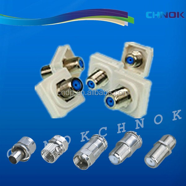 F type female coaxial connector,phone jack for tv antenna