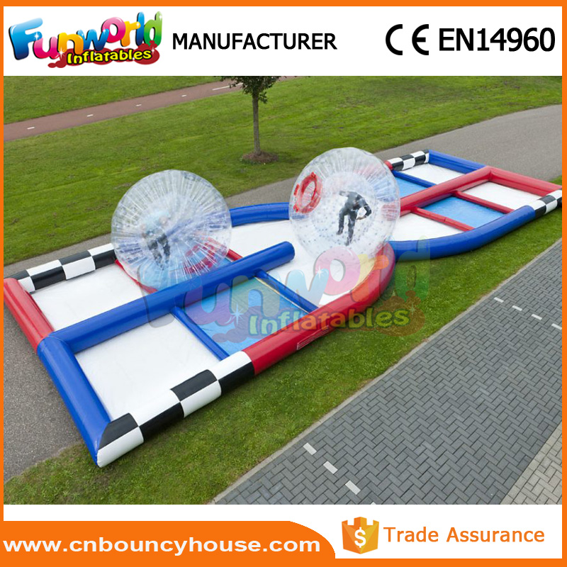 Customized grass ball race track inflatable zorb ball track
